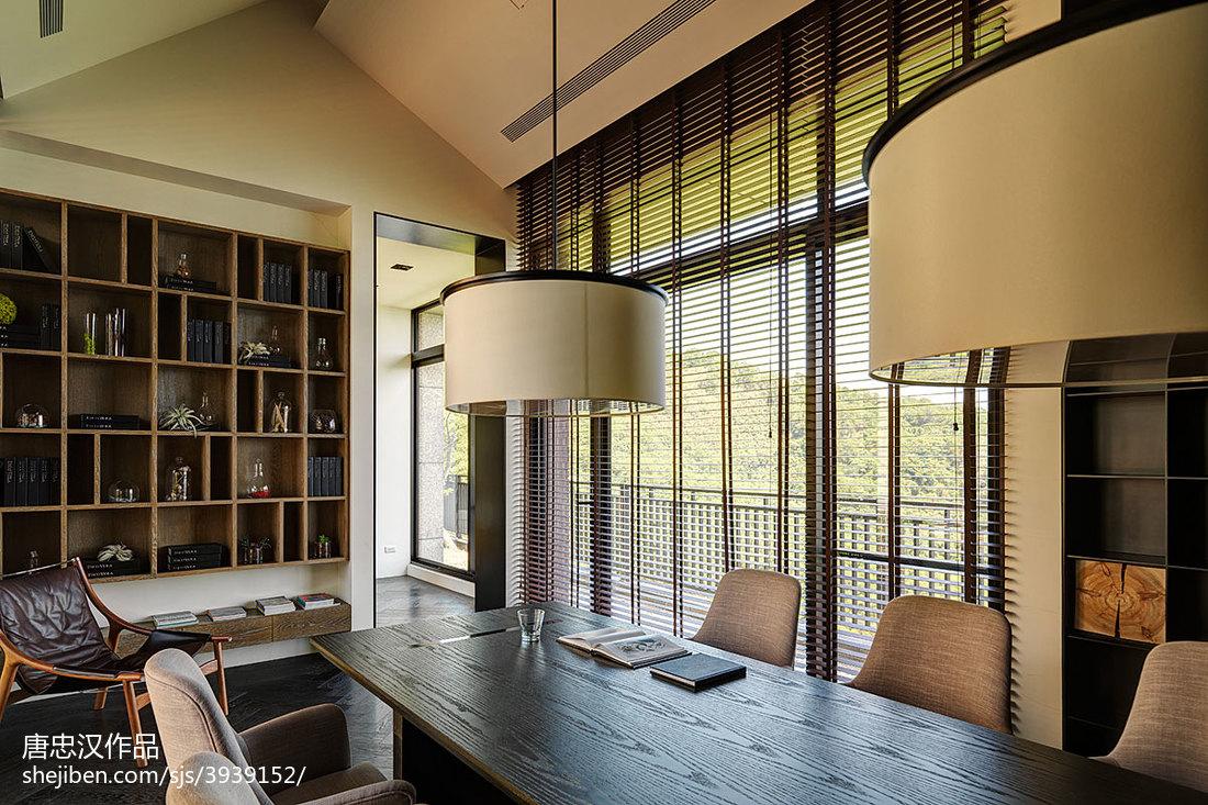 四居室现代客餐厅窗户装修设计功能区现代简约功能区设计图片赏析