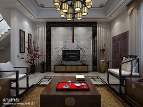 热门面积135平别墅客厅中式装修设计效果图片欣赏