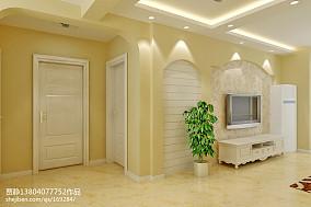热门86平米田园小户型客厅装修效果图片欣赏