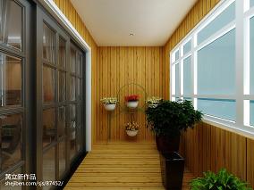 精选三居阳台现代装修欣赏图片