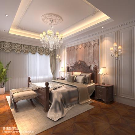 2018面积134平别墅卧室欧式装修效果图片欣赏卧室