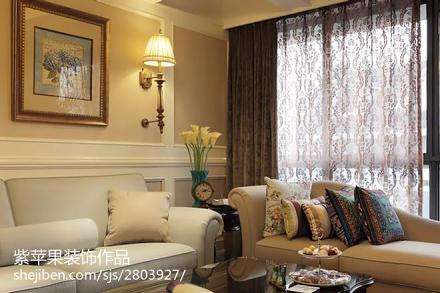 2018精选面积120平别墅客厅美式欣赏图