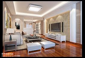 清新创意美式风格客厅隔断装修效果图