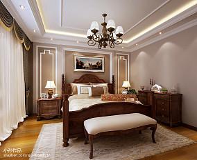 精选100平米三居卧室美式装饰图片欣赏