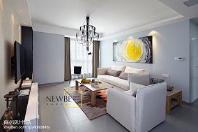 2018大小107平现代三居客厅装修效果图片欣赏