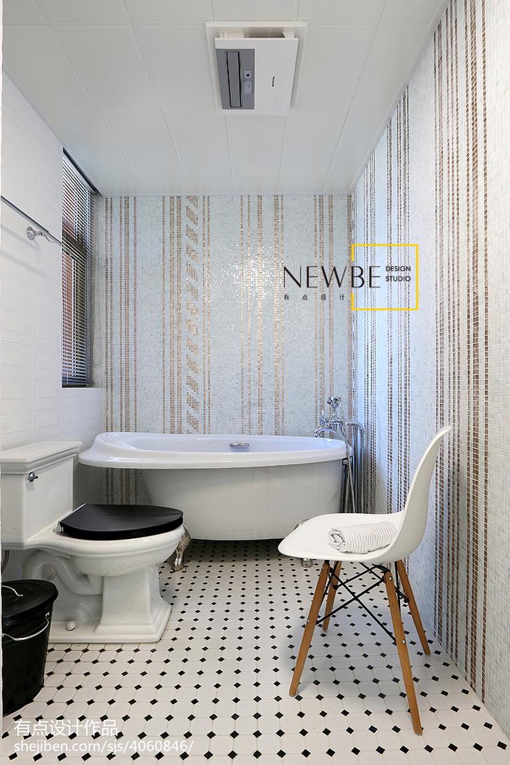 2018面积106平现代三居卫生间装修实景图片欣赏卫生间