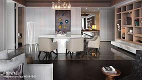 现代风餐厅博古架设计效果图