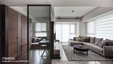 2018100平米三居现代效果图片大全三居现代简约家装装修案例效果图