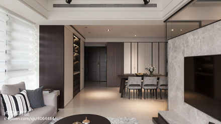 精美107平客厅三居现代装修欣赏图片大全