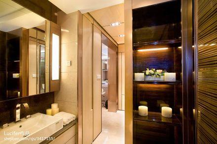 明亮111平新古典三居卫生间装饰美图