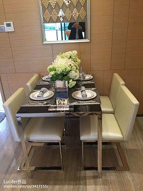 精选98平米三居餐厅新古典欣赏图