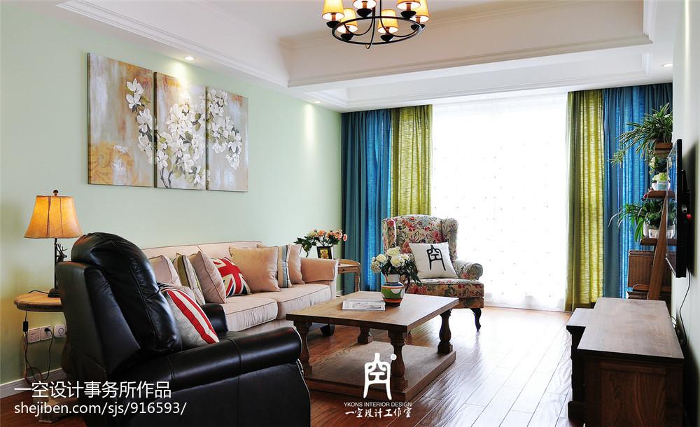 热门面积103平混搭三居客厅装修设计效果图片大全客厅