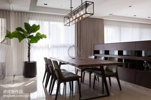 精选136平米四居餐厅混搭效果图厨房窗帘201-500m²潮流混搭家装装修案例效果图