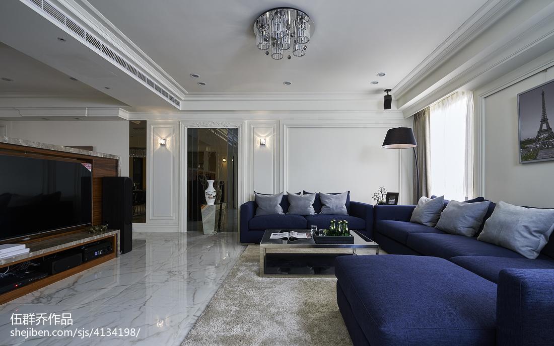 2018面积138平别墅客厅混搭装修设计效果图片欣赏客厅