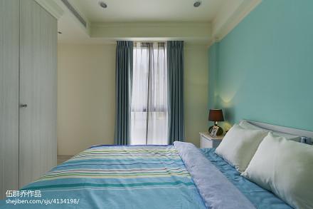 精选122平米混搭别墅卧室装修实景图片欣赏卧室