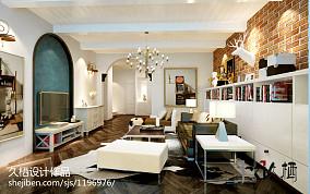 轻奢187平新古典复式客厅设计效果图