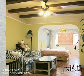 华丽50平田园小户型客厅设计案例