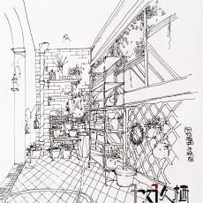 大气32平田园小户型阳台装修美图