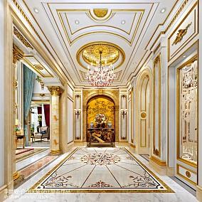 热门面积142平别墅玄关欧式装修图片欣赏