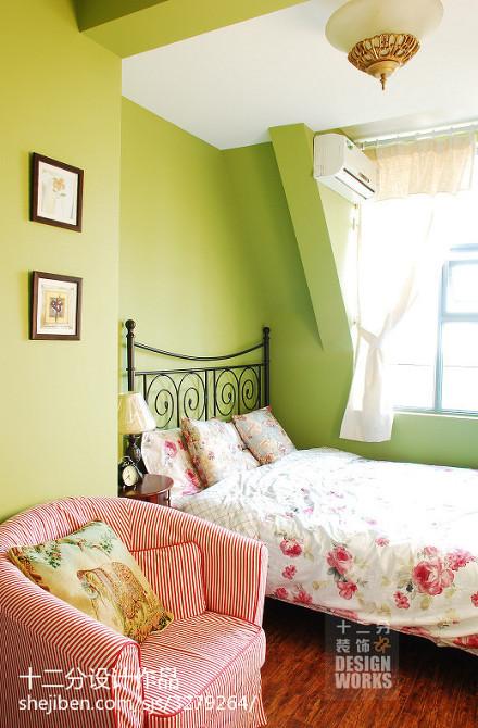 2018精选142平米地中海复式卧室装修设计效果图卧室