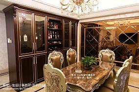 简欧餐厅酒柜设计效果图云集