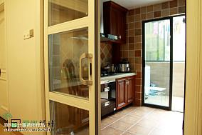 精美123平米四居厨房美式装饰图片