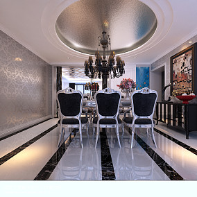 2018精选100平米三居餐厅新古典装修图片大全