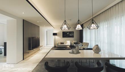 现代风格样板房客厅窗帘装修设计客厅