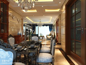 2018精选92平方三居餐厅欧式实景图片大全