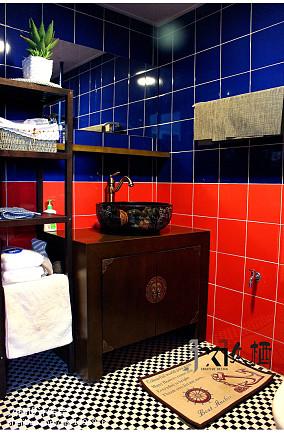 2018别墅卫生间中式装修效果图片欣赏卫生间中式现代设计图片赏析