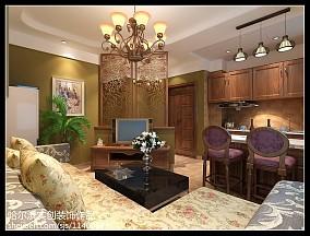 精美面积90平小户型客厅美式装修效果图