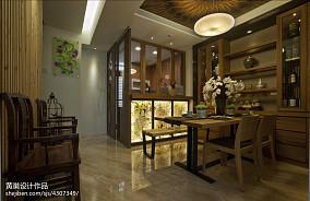 精选大小126平中式四居餐厅装修效果图片欣赏