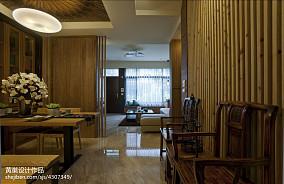 2018精选面积142平中式四居餐厅装修设计效果图片