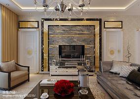 2018精选面积89平欧式二居客厅装饰图