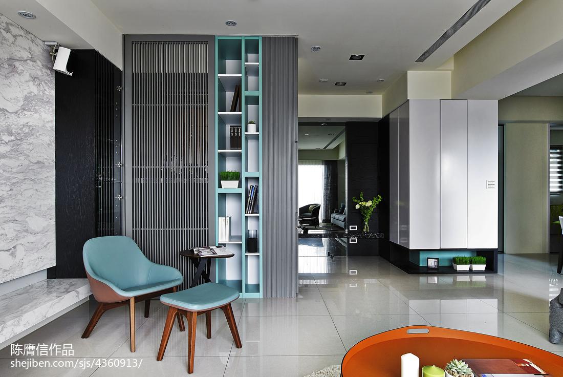 平米四居客厅混搭实景图片大全客厅
