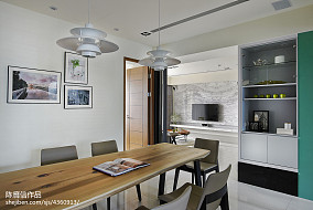 热门面积144平混搭四居餐厅装修实景图厨房潮流混搭设计图片赏析