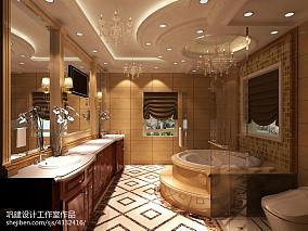 精选面积125平别墅卫生间新古典装修效果图片