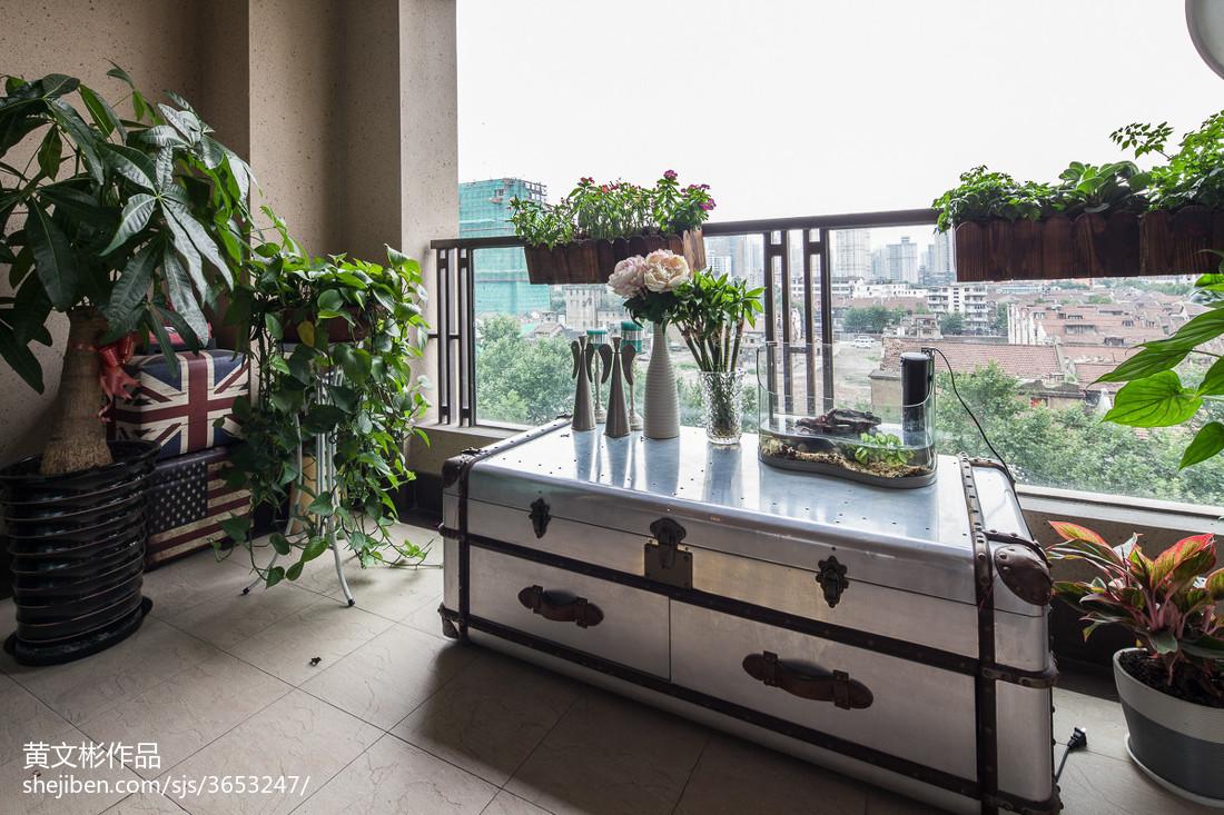 精选面积100平现代三居阳台装修设计效果图片大全阳台现代简约阳台设计图片赏析