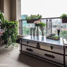 精选面积100平现代三居阳台装修设计效果图片大全