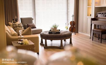温馨113平新古典三居卧室装饰美图
