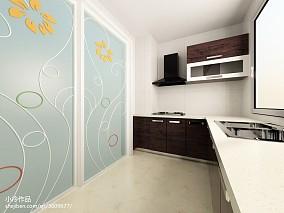 家居开放式整体厨房装修效果图片