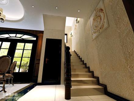 美式楼梯图片