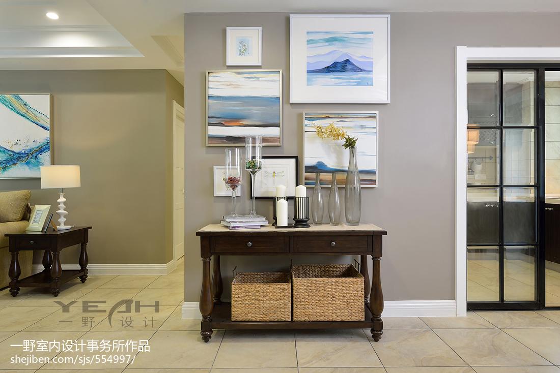 美式玄关背景墙效果图功能区美式经典功能区设计图片赏析