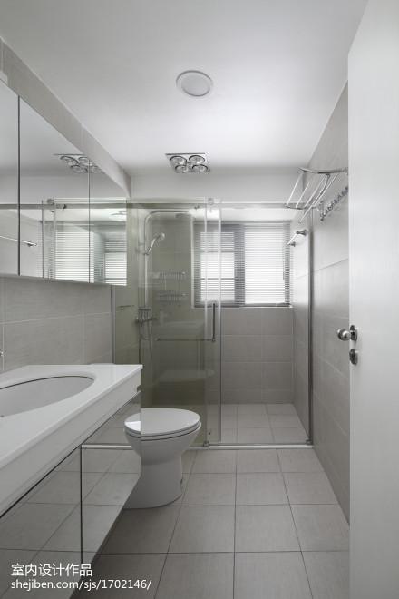 浪漫317平现代样板间卫生间装修效果图卫生间