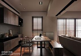 三居现代风格餐厅隔断装修效果图