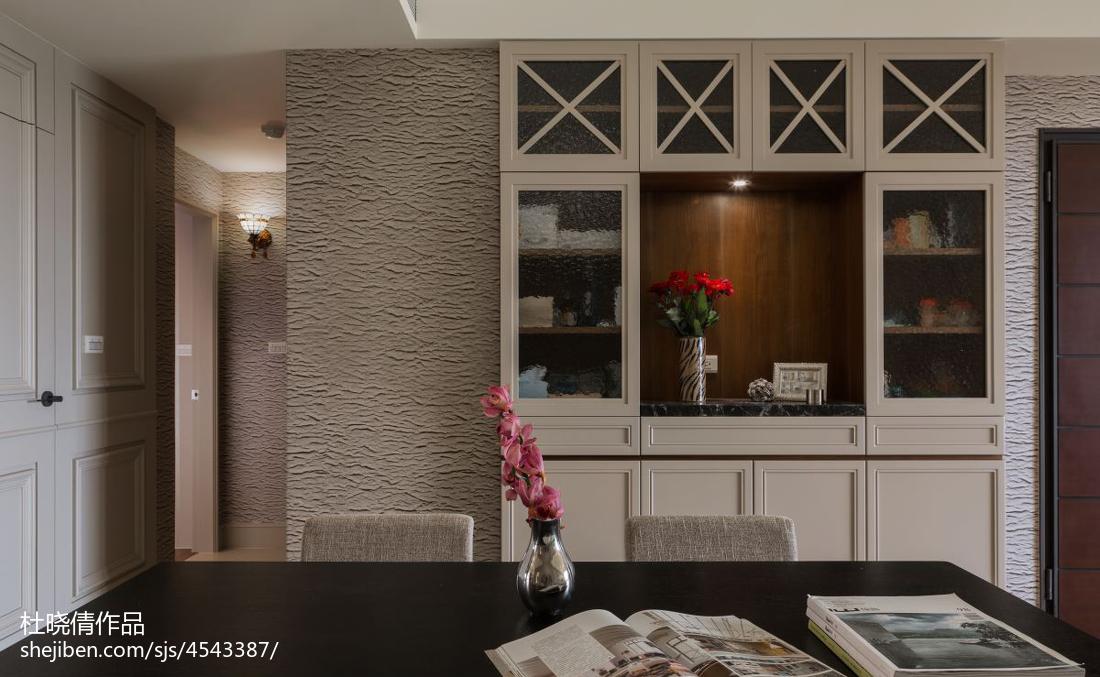 2018大小101平美式三居餐厅装修图片大全厨房美式经典餐厅设计图片赏析