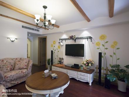 大气122平地中海二居客厅装饰图二居地中海家装装修案例效果图