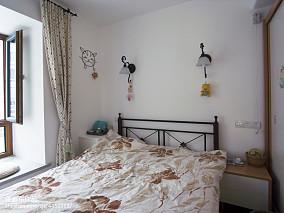 典雅68平地中海二居卧室装修装饰图卧室地中海设计图片赏析