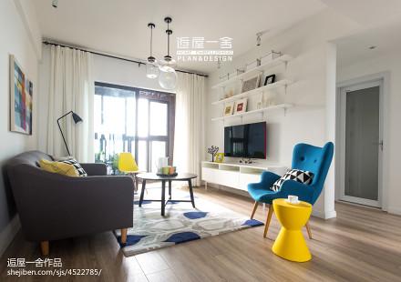2018精选小户型客厅欧式效果图片欣赏一居欧式豪华家装装修案例效果图