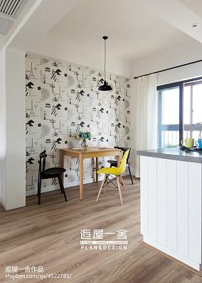 精美面积74平小户型餐厅欧式实景图片大全厨房欧式豪华设计图片赏析